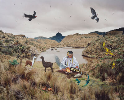 Karen Miranda-Rivadeneira, 'Medicine Man and his guides', 2017