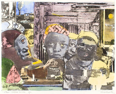 Romare Bearden, '12 TRAINS-SEABOARD LIMITED', 1974