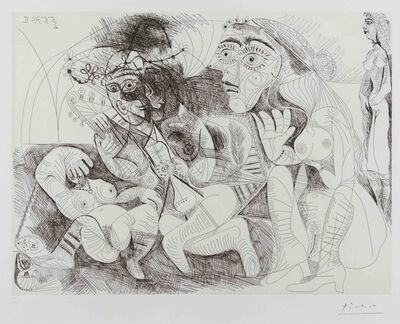 Pablo Picasso, 'Filles Entre Elles- La Recreation en Masque, from the Series 156', 1971
