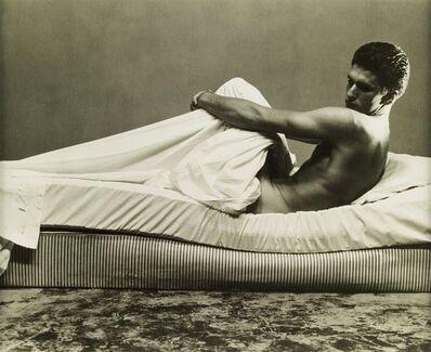 George Platt Lynes, '[Reclining Male Nude on Bed]', circa 1950