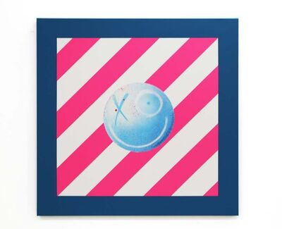 André Saraiva, 'Street Sign (Blue, Pink & White)', 2020