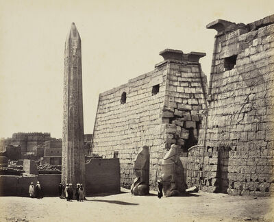 Francis Bedford, 'Propylon of the Temple of Luxor and obelisk [Egypt]', 18 March 1862