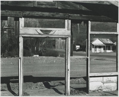 Brett Weston, 'Scene Framed by Building Under Construction', 1995