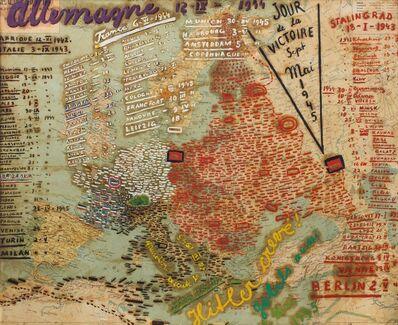 Moise Kisling, 'Carte des victoires alliées entre 1939 et 1945'