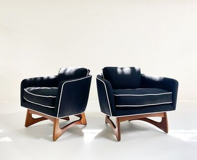 Adrian Pearsall, 'Lounge Chairs in Rose Uniacke Linen, pair', mid 20th century-restored in 2020 by Forsyth