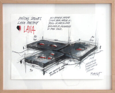 Fabrizio Plessi, 'Lava Project 3', 2005