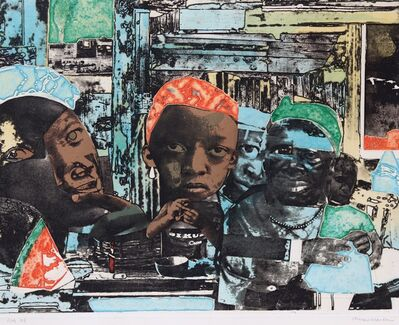 Romare Bearden, 'The Train', 1975