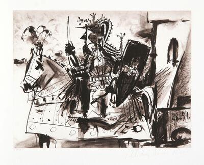 Pablo Picasso, 'Cavalier en Armure', 1973-original created 1951