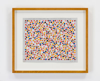 Hamish Fulton, 'Untitled (Counting 588 Coloured Dots), Planet Earth, 2010', 2010