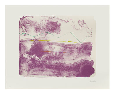 Helen Frankenthaler, 'Lilac Sweep', 2006