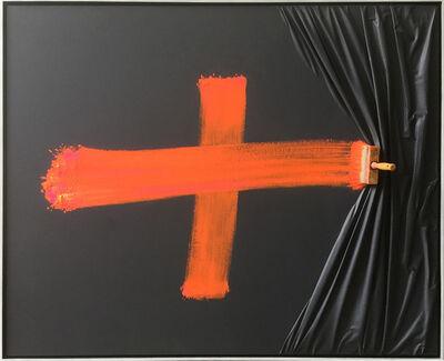 Jean-Paul Donadini, 'Crois Orange Brosse Arrétée', 2019