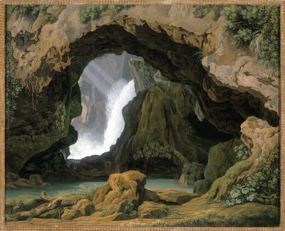 Johann Martin von Rohden, 'The Grotto of Neptune in Tivoli', 1812