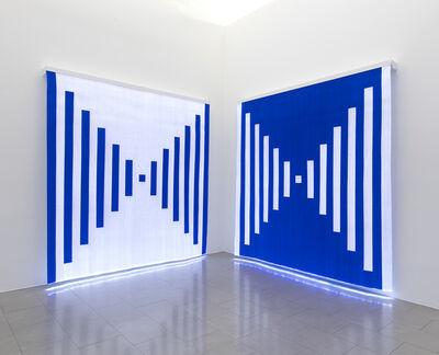 Daniel Buren, 'Fibres optiques — Bleu foncé. Diptyche K1+K2  ', 2013