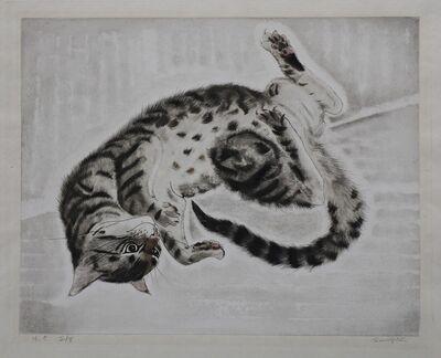 Léonard Tsugouharu Foujita, 'Twisting Cat', ca. 1930