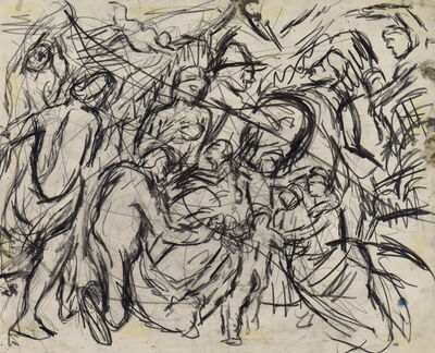 Leon Kossoff, 'From 'Minerva Protects Pax from Mars' by Rubens', Executed circa 1980-1981