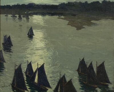 Jonas Lie, 'Harbor Scene, Cape Ann', 1909