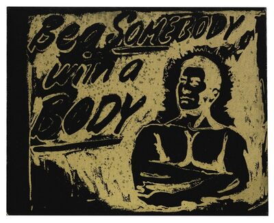 Andy Warhol, 'Be a Somebody with a Body', 1985