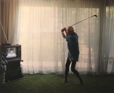 Larry Sultan, 'Practicing Golf Swing', 1988