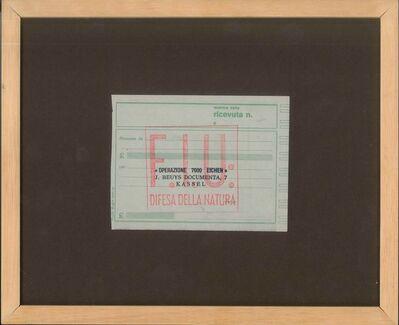 Joseph Beuys, 'Operazione 7000 Eichen (Operation 7000 Eichen)', ca. 1984