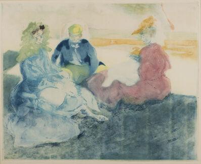 Jacques Villon, 'Sous la Tente, Sur la Plage, Bionville', 1905