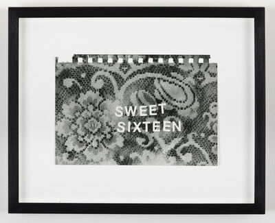 Betty Tompkins, 'Sweet Sixteen', 2016