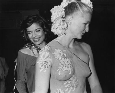 Eric Kroll, 'Bianca Jagger and Halston model at birthday party', 1977