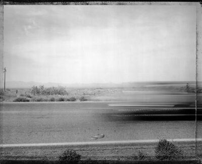 Mark Klett, 'Car passing snake, Eastern Mojave Desert, 5/29/83'
