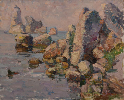 Anatoly Egorovich Zorko, 'seascape in the morning at sea, Kerch', 1995