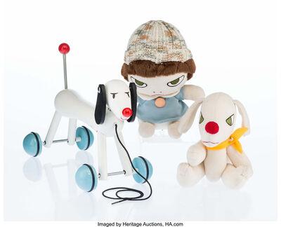 Yoshitomo Nara, 'Walk On Doll, Walk On Dog, and Sweet Dog Pulltoy (three works)', c. 2002