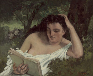 Gustave Courbet, 'A Young Woman Reading', ca. 1866/1868