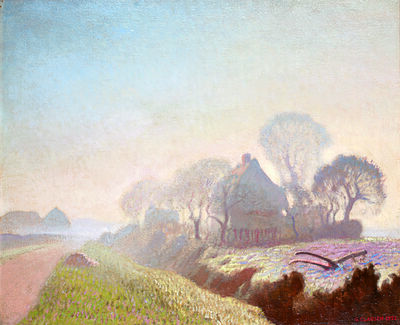 George Clausen, 'Morning in November', 1922