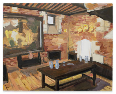 Karen Kilimnik, 'Leonardo da Vinci's last home - the dining hall', 2014