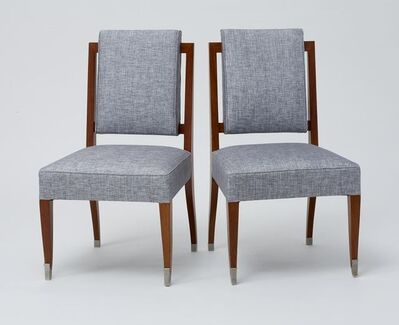 Maison Leleu, 'A PAIR OF SIDE CHAIRS', ca. France-circa 1960