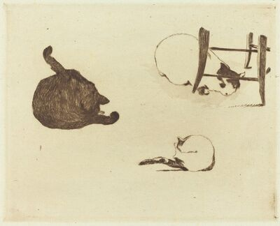 Édouard Manet, 'The Cats (Les chats)', 1869