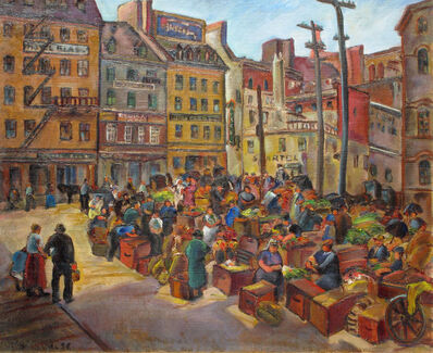 Marion Huse, 'Quebec Marketplace', 1932