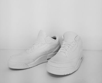 Brock DeBoer, 'Raw Porcelain Jordan 3 (pair)', 2018