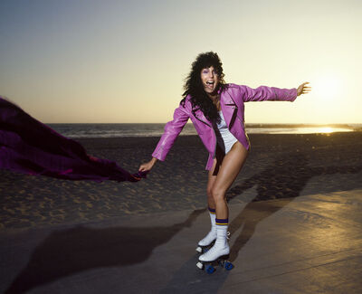 Douglas Kirkland, 'Cher Rollerskating On Venice Beach, 1971', 1971