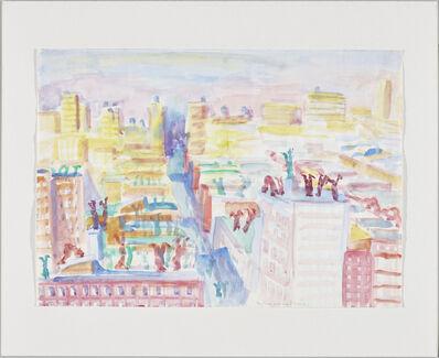 Maria Lassnig, 'New York steht Kopf', 1980