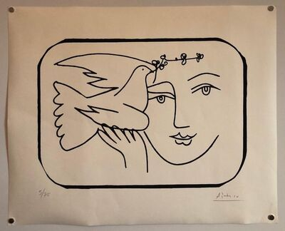 Pablo Picasso, 'Boy with Dove Limited Edition Screen Print or Lithograph', 20th Century