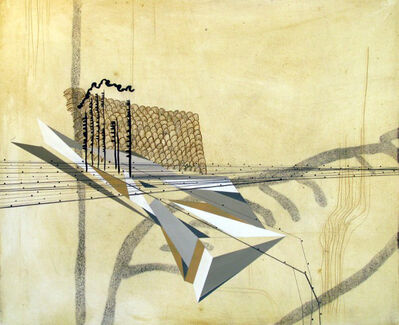 Sarah Amos, 'Yellow Scape', 2007