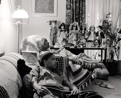 LaToya Ruby Frazier, 'Grandma Ruby and Me in her Livingroom', 2007