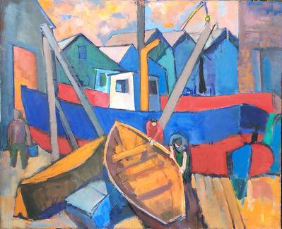 Salvatore Del Deo, 'Boatyard with Dories', n.d.