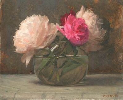 Jacob Collins, 'Peonies in a Glass Bowl I', 2014