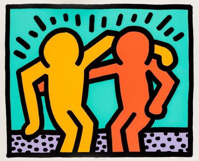 Keith Haring, 'Best Buddies (Littmann p.184-185)', 1990