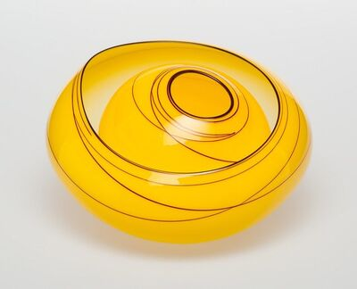 Dale Chihuly, 'Two-Piece Jasmine Basket with Oxblood Lip Wrap', 2010