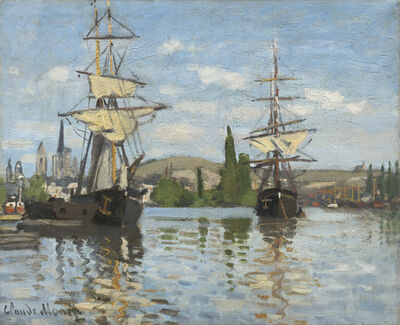 Claude Monet, 'Ships Riding on the Seine at Rouen', 1872/1873