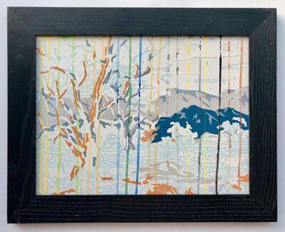 Trey Speegle, 'Lone Rider in Watercolor Rain', 2020