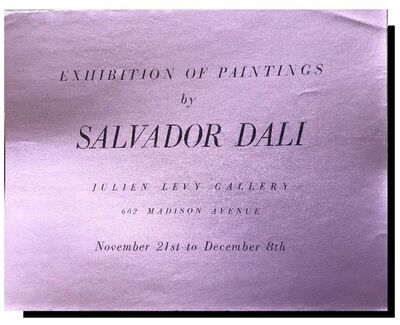 "Salvador Dalí, '""Exhibition of Paintings by Salvador Dali"", 1933,  Exhibition Announcement/ Catalogue, Julien Levy Gallery NYC, RARE', 1933"