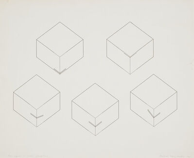 Michael Craig-Martin, 'Box Capable of Unseen Alterations', 1969