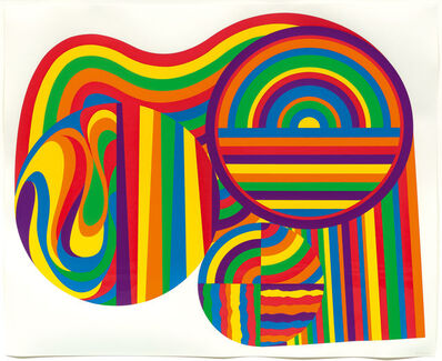 Sol LeWitt, 'Arcs and bands in colour', 1999